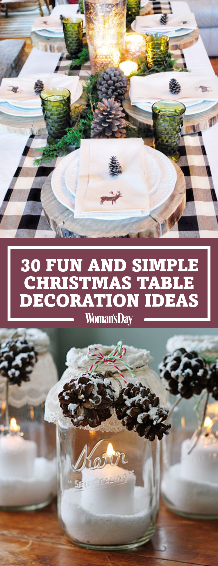 Decorative Ideas For Living Room Small: 32 Christmas Table Decorations & Centerpieces