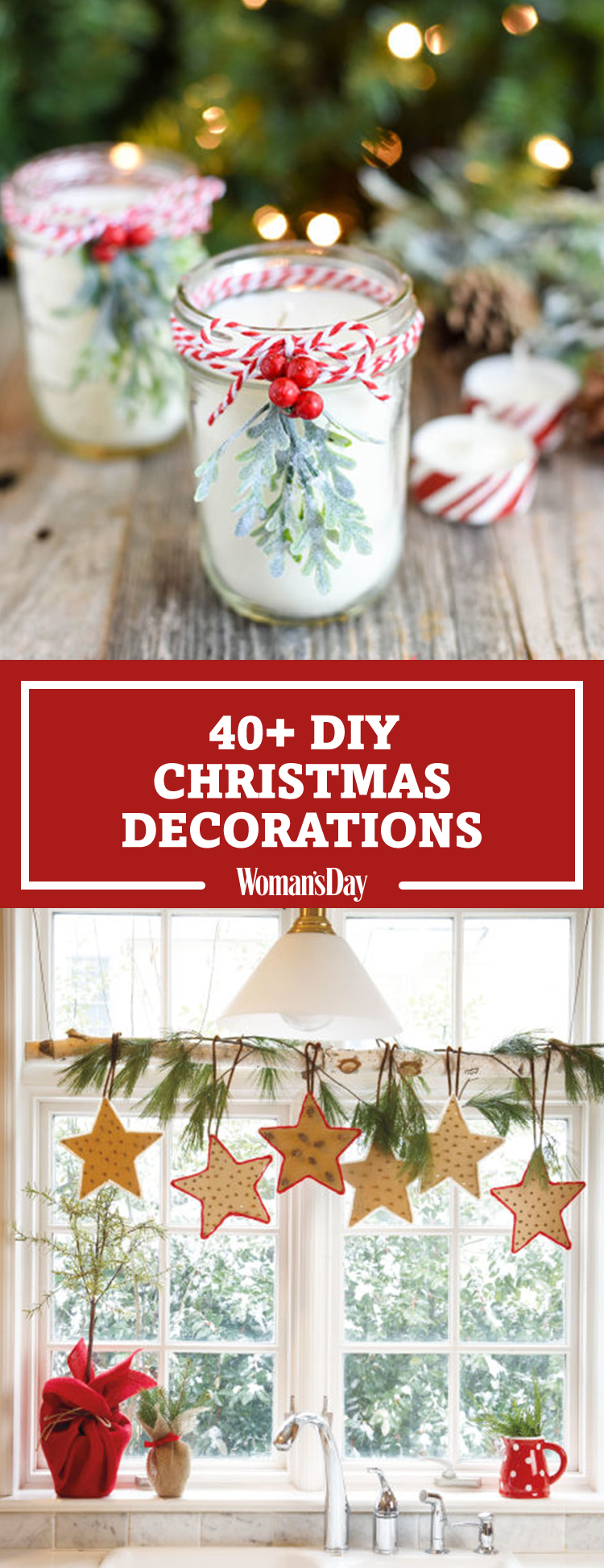 47 easy diy christmas decorations homemade ideas for Christmas decorating diy