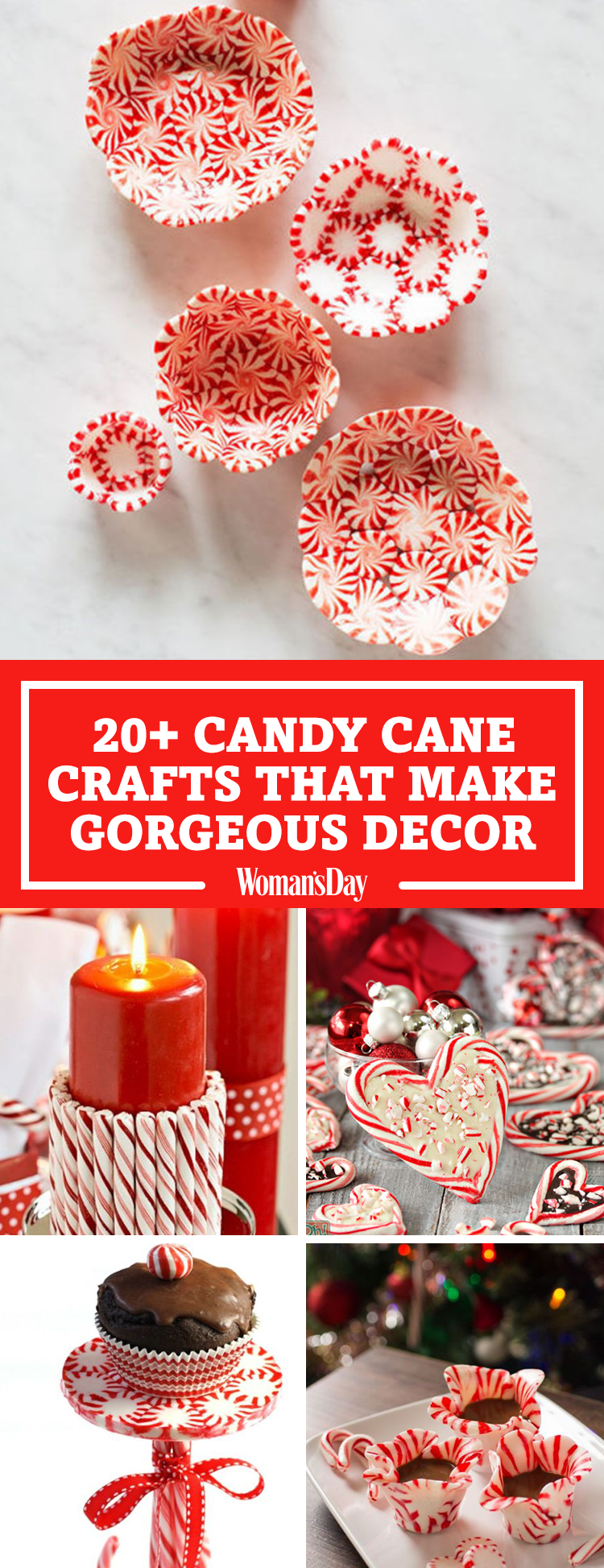 25 candy cane crafts diy decorations with candy canes for Easy candy cane crafts