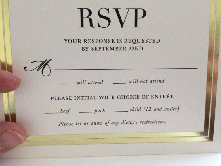 Wedding RSVP Card Ideas