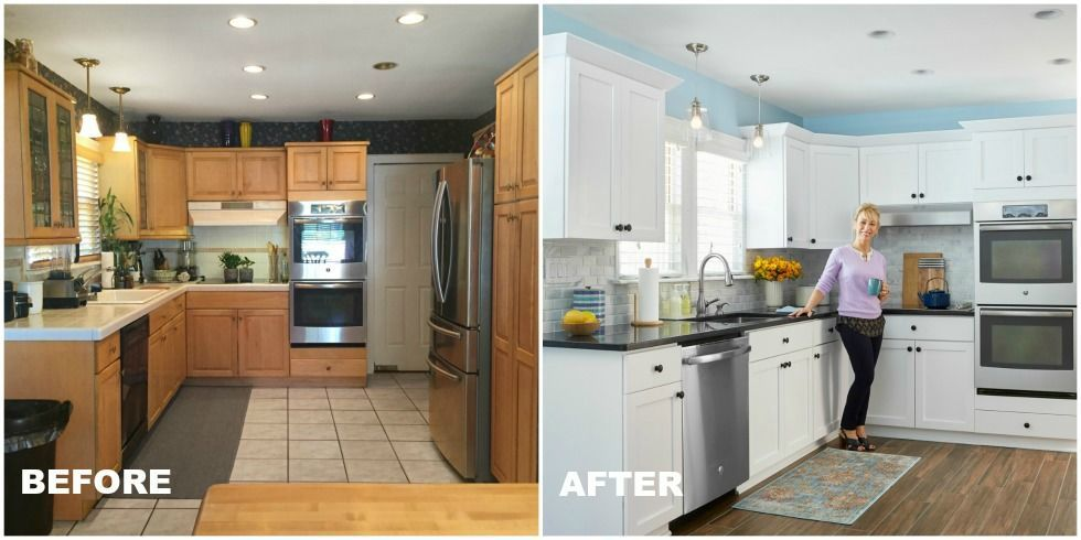 Kitchen makeovers before and after kitchen makeovers for Before after kitchen makeovers