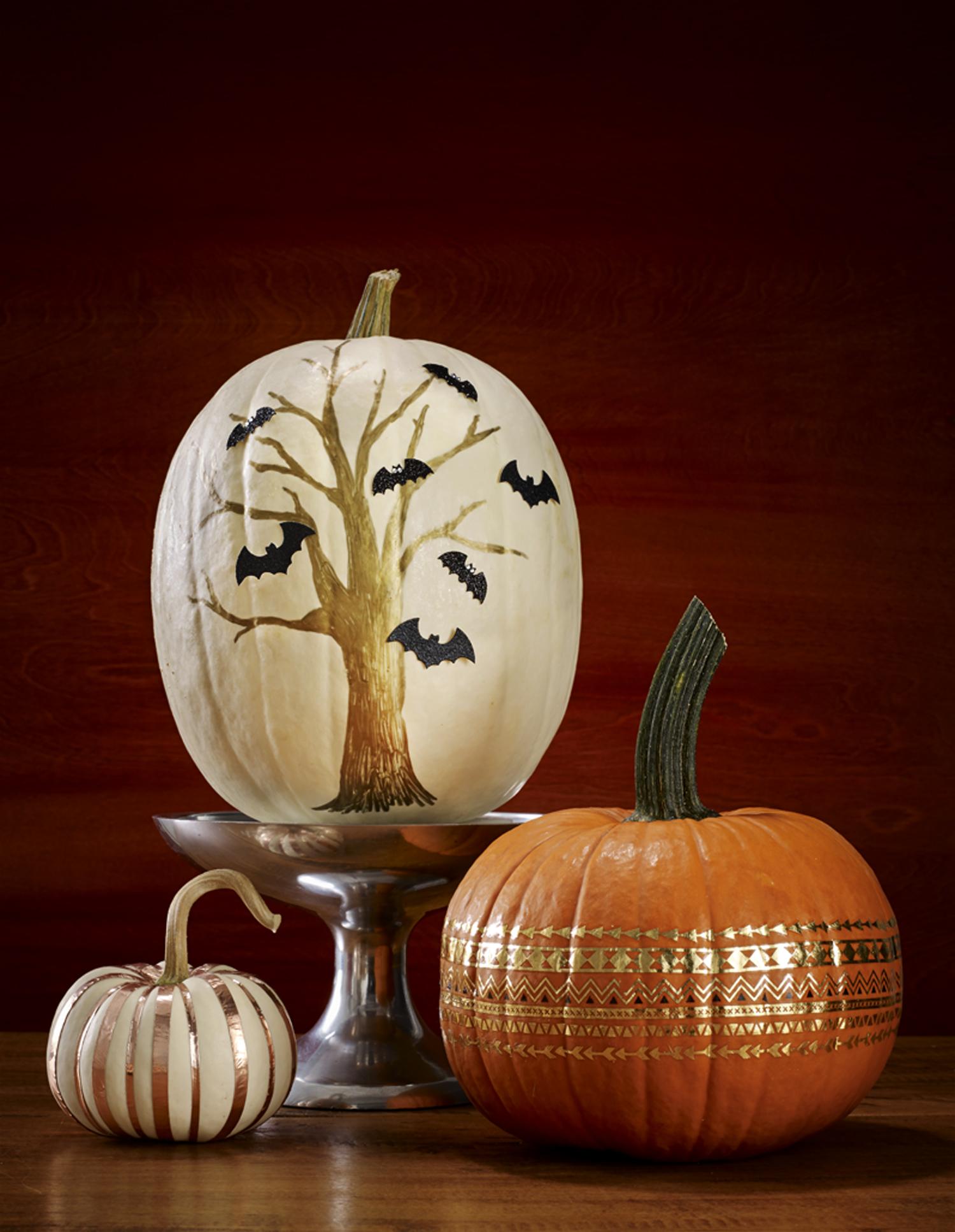 Halloween pumpkin painting ideas no carve