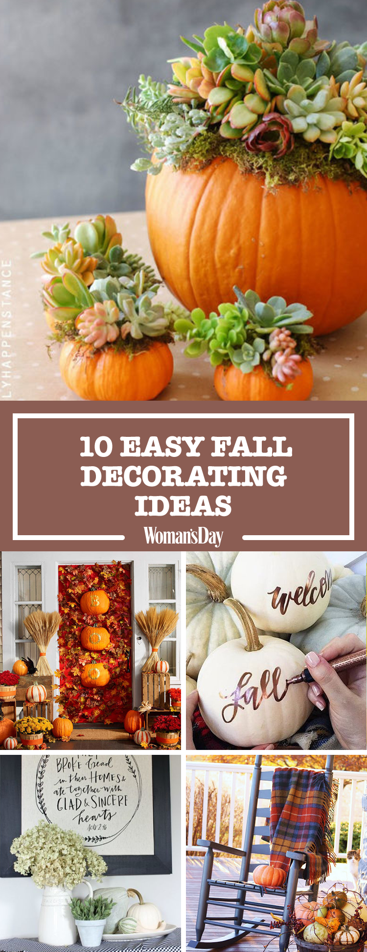 Simple Fall Wreath: 12 Easy Fall Decorating Ideas