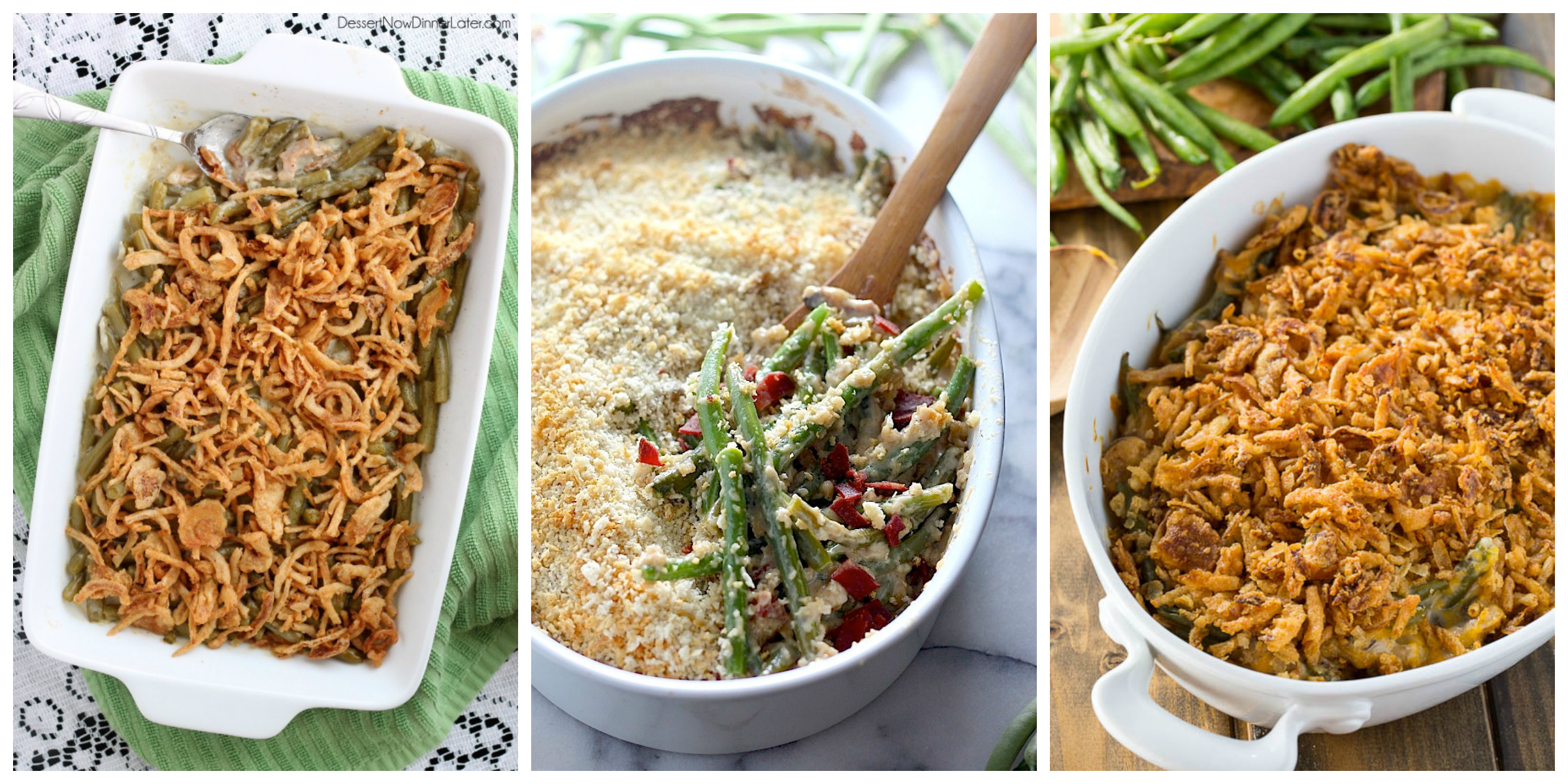 12 easy green bean casserole recipes homemade green bean for Easy thanksgiving green bean recipes