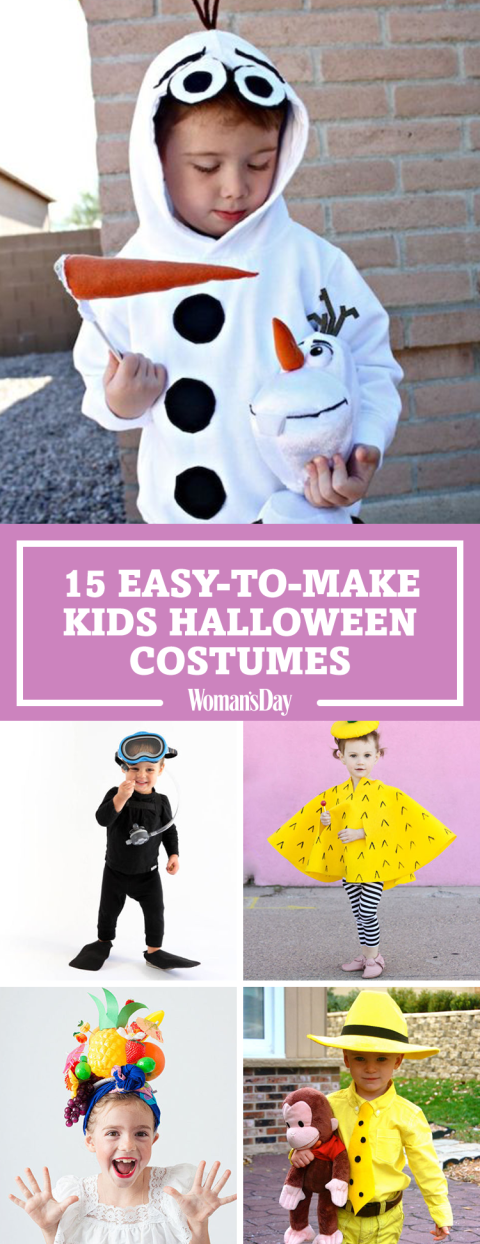 20 homemade halloween costumes for kids diy ideas for for Easy halloween decorations to make at home for kids