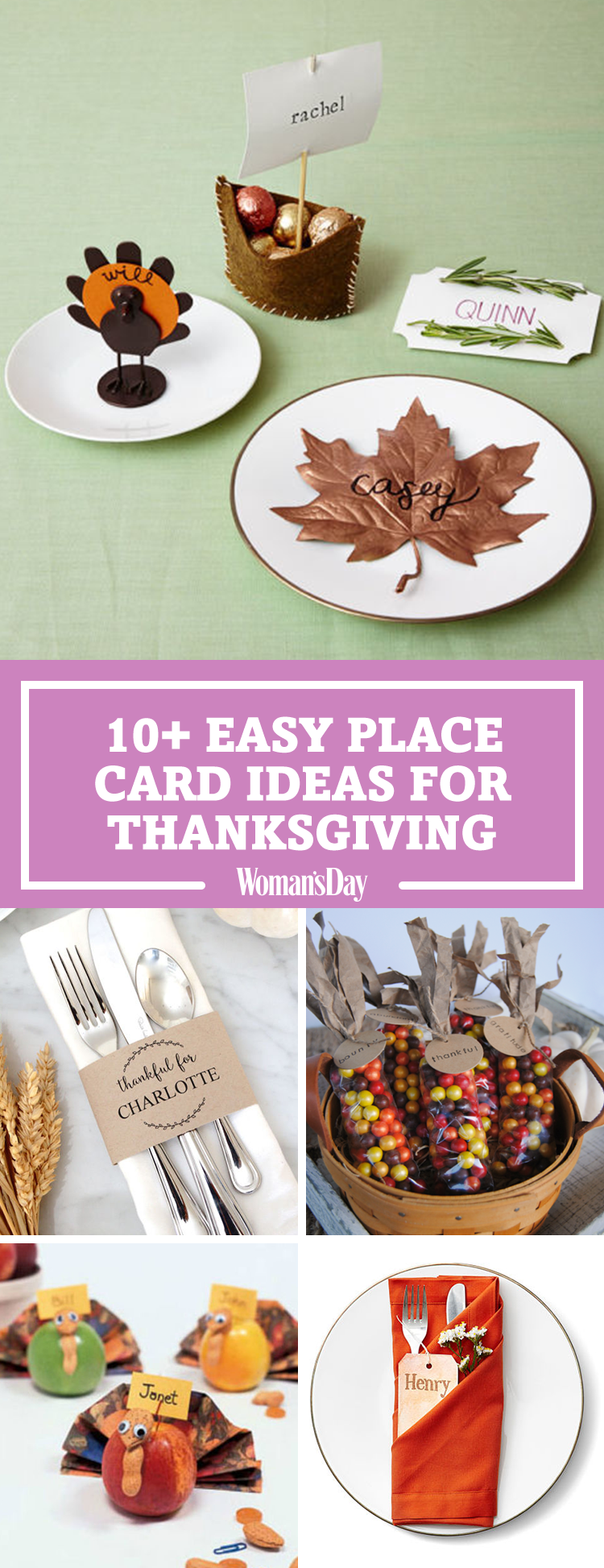 9 diy thanksgiving place cards craft ideas for fall table name cards