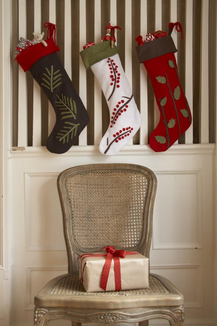 Beautiful 18 DIY Christmas Stockings   How To Make Christmas Stockings Craft Ideas    Womanu0027s Day