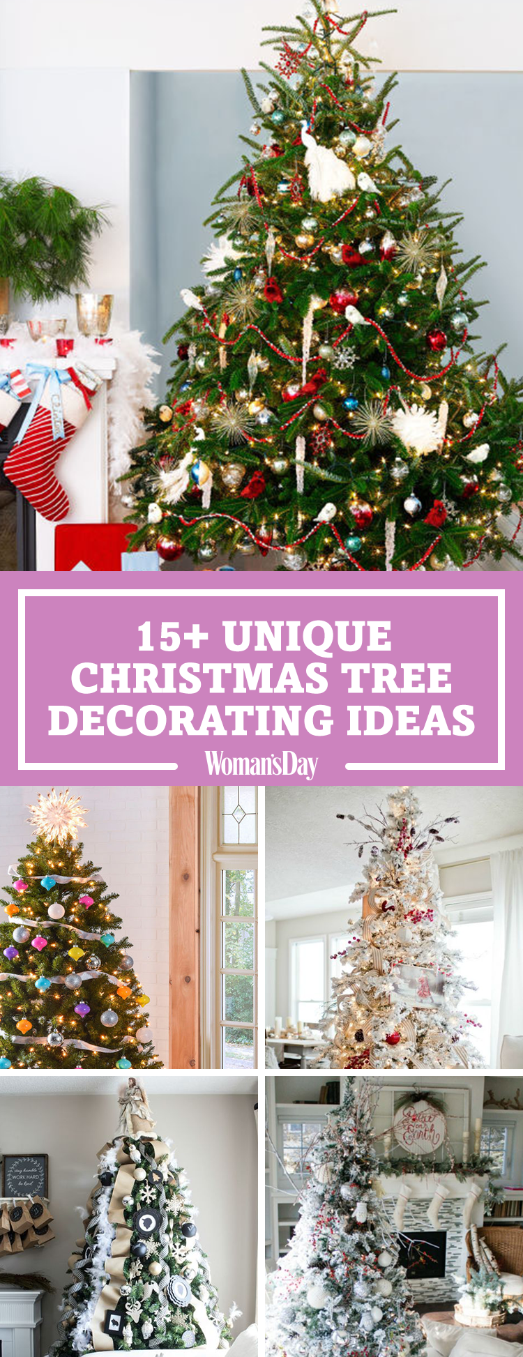 25 unique christmas tree decoration ideas pictures of decorated christmas trees. Black Bedroom Furniture Sets. Home Design Ideas
