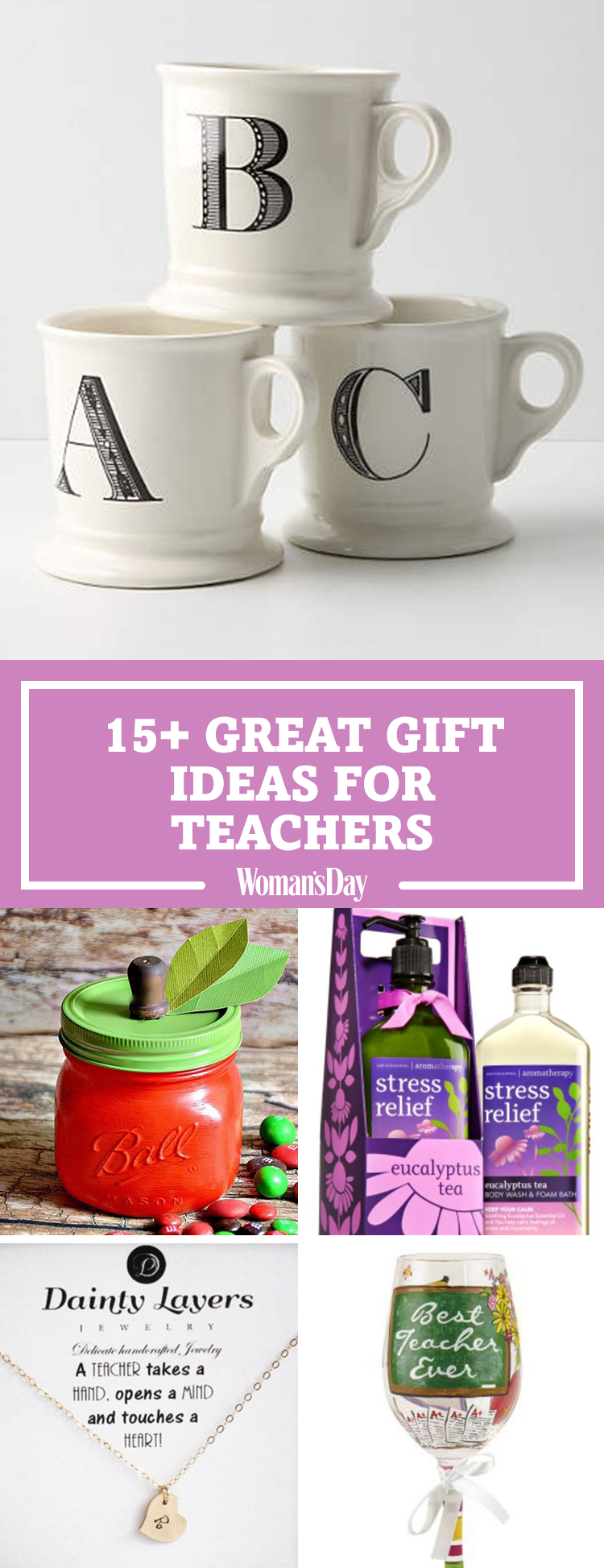 teachers gift teacher gifts christmas present holiday presents simple favorite parents woman appreciation perfect easy kid
