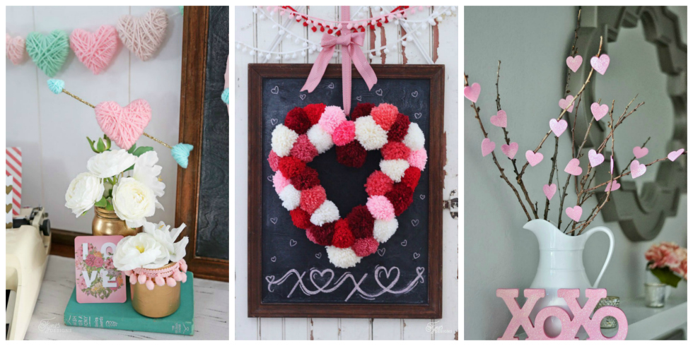 13 diy valentine 39 s day decorations easy valentines day for Valentine decorations to make at home