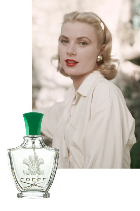 When Grace Kelly became Her Serene Highness Princess Grace of Monaco in 1956, walking down the aisle of Cathédrale Notre-Dame-Immaculée in front of guests including Cary Grant and Ava Gardner, she did so wearing Creed Fleurissimo. The fragrance, from the esteemed family-owned fragrance house, was commissioned specially by Prince Rainier for his bride to compliment her wedding bouquet and contains notes of bergamot, tuberose, Florentine iris, and Bulgarian rose.