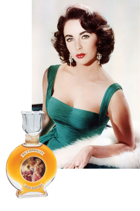 Nowadays, every boldface name has their own fragrance line—but Elizabeth Taylor was a pioneer when she launched her revolutionary perfume empire, spanning blockbuster scents like White Diamonds, Forever, and Passion. (To this day, White Diamonds remains the bestselling celebrity fragrance of all time.) In earlier days, however, Liz wore Jean Desprez Bal à Versailles, an oriental scent with notes of rosemary, orange blossom, sandalwood, and vanilla created in 1962. Taylor wore it on the set of Cleopatra, and also gifted the scent to Michael Jackson, who wore it for the rest of his life.