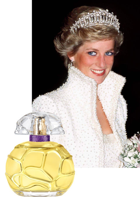 A more modern but no less indelible icon, Princess Diana walked down the aisle at St. Paul's Cathedral bathed in Quelques Fleurs, a floral scent featuring notes of tuberose, rose, and jasmine. (Rumors abound that she accidentally spilled the juice on her wedding dress while trying to top up just before getting out of the carriage.) Later in life, Princess Diana was a fan of 24 Faubourg by Hermès, created by in 1995 by perfumer Maurice Roucel and named for the address of the Hermès flagship store in Paris. A sunny scent, it contains notes of orange blossom, peach, gardenia, and amber.