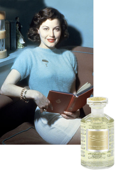 Ava Gardner was reportedly partial to Creed Fleurs de The Rose Bulgare, a rose scent that bergamot and green tea notes. Other scents favored by the Best Actress nominee included Guerlain Mitsouko and the bergamot, mandarin, and lilac-infused Fracas by Robert Piguet. While she was married to Frank Sinatra, stories circulated that she'd signal an end to one of their regular, titanic fights by spritzing the stairway with perfume as an invitation.