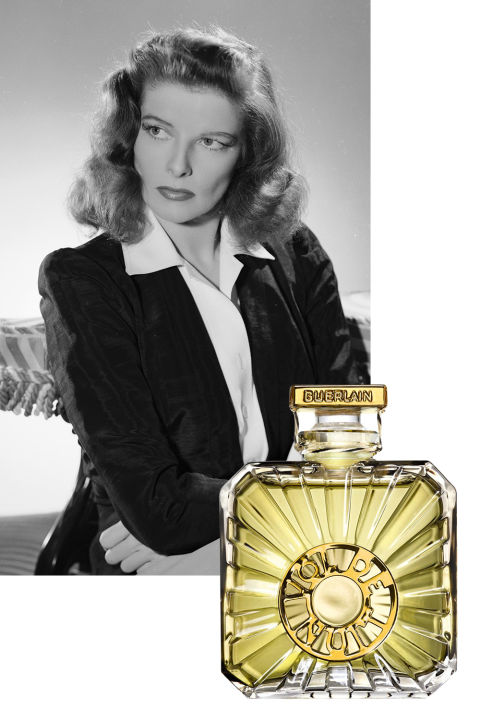 Aviation enthusiast Kate Hepburn was a fan of Jacques Guerlain's 1933 scent Vol de Nuit, which was created in homage to the Antoine de Saint-Exupéry book Night Flight. (The same author wrote the children's classic The Little Prince.) A woodsy and spicy floral, its notes included bergamot, jasmine, and vanilla, and the bottle displays a relief of a moving airplane propeller.