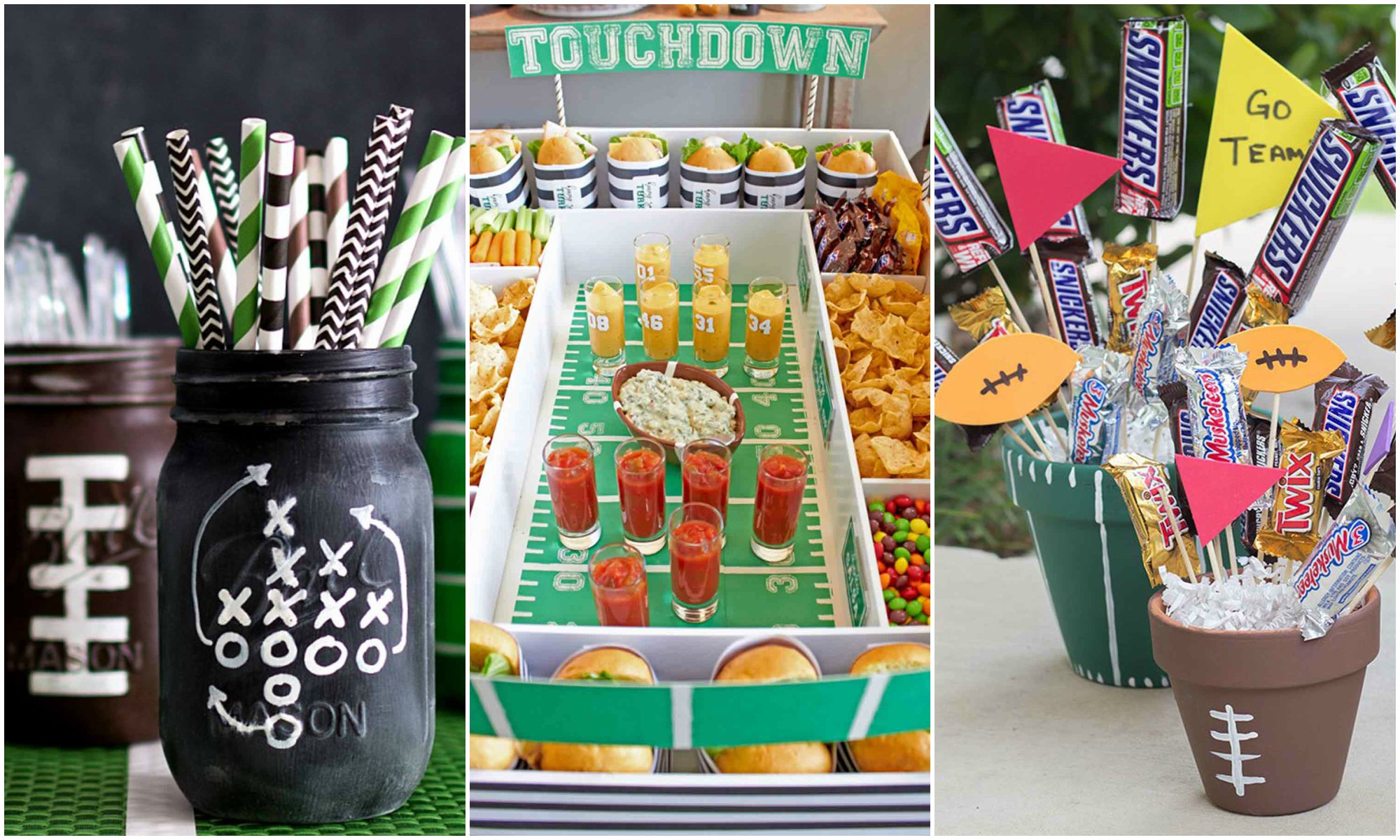 12 diy football decorations for a super bowl party for Super bowl party items