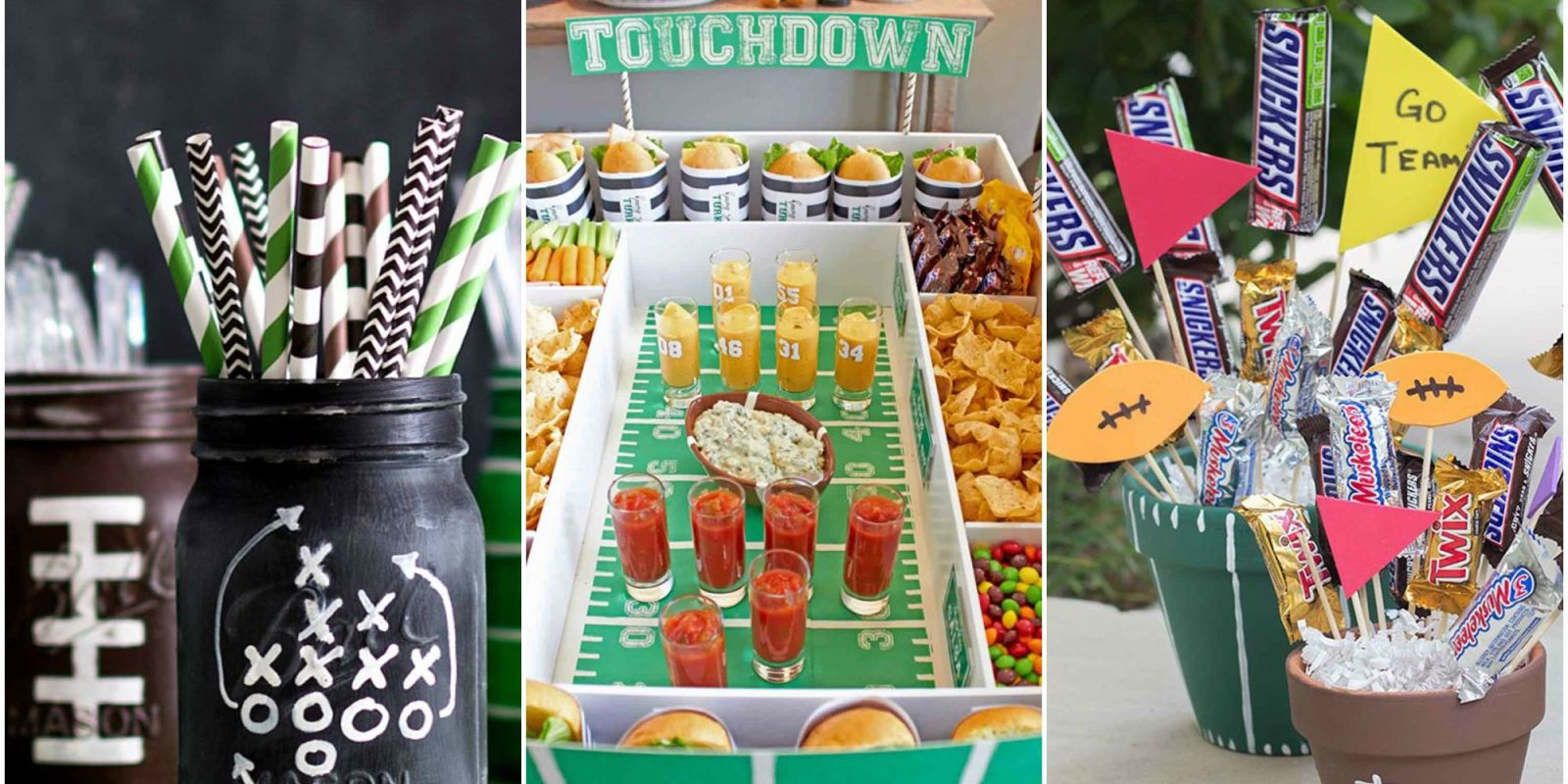Diy football decorations for a super bowl party