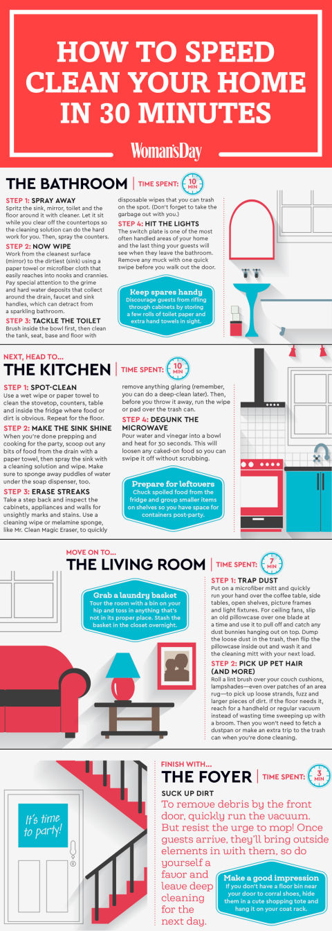 Quick Cleaning Tips How To Speed Clean Your Home In 30
