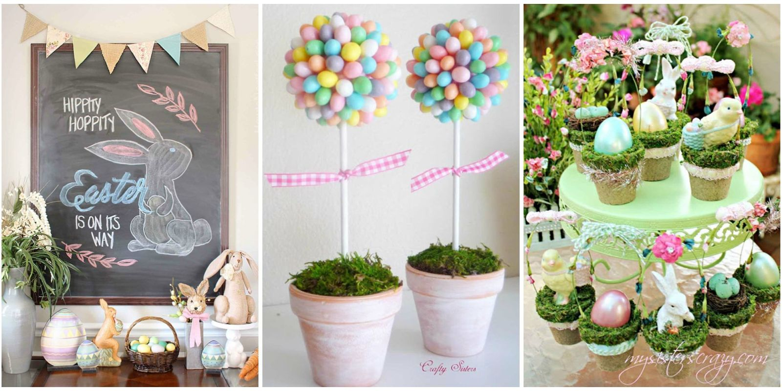 20 diy easter decorations to make homemade easter for Home easter decorations