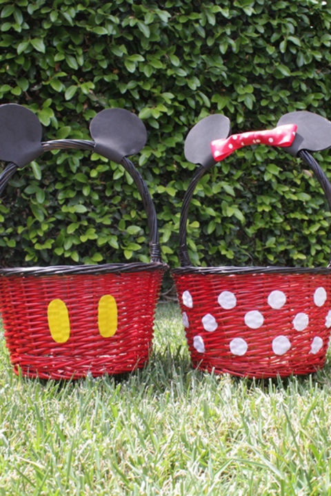 30 easter basket ideas for kids best easter gifts for babies mickey minnie easter baskets negle Image collections