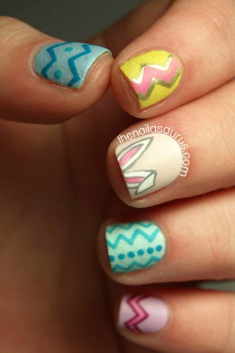16 cute easter nail designs best easter nail art ideas easter nails prinsesfo Images