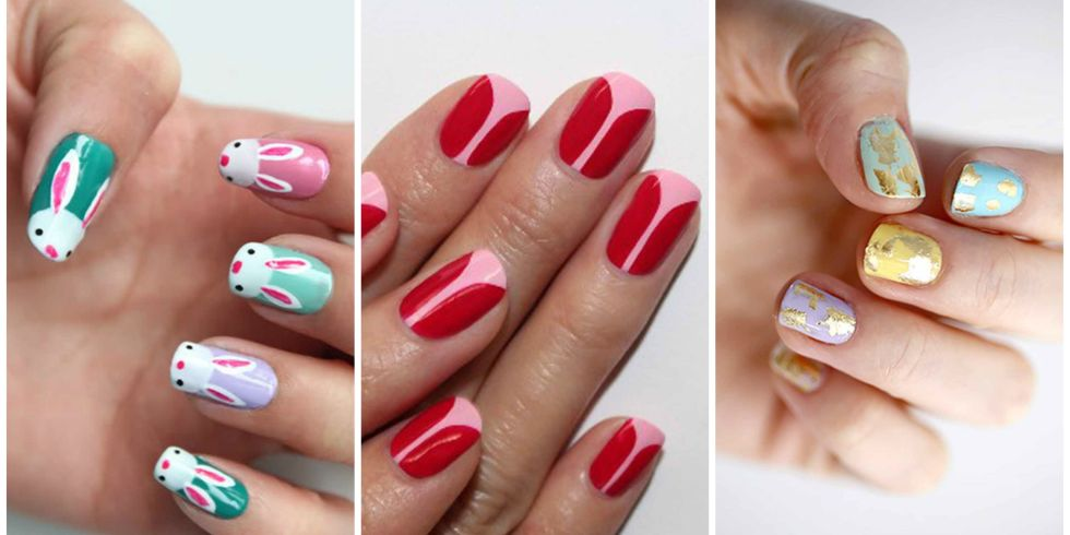easter nail designs - 16 Cute Easter Nail Designs - Best Easter Nail Art Ideas