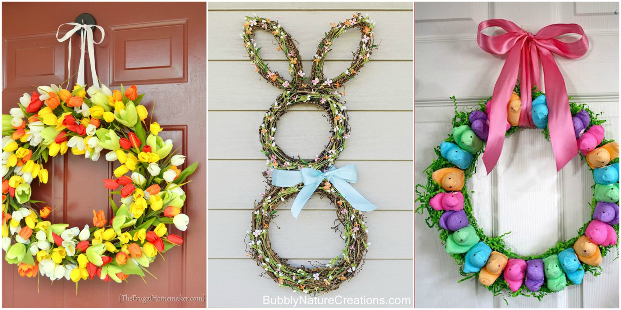 13 diy easter wreaths to make homemade easter door for Spring craft ideas for adults