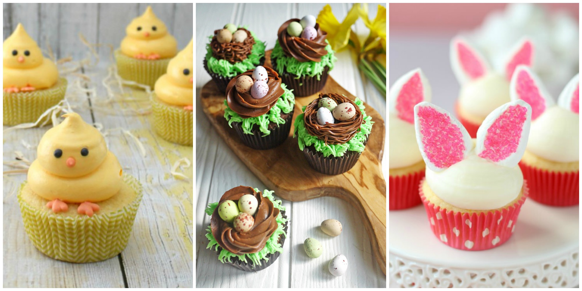 21 cute easter cupcakes easy ideas for easter cupcake recipes for Decoration culinaire
