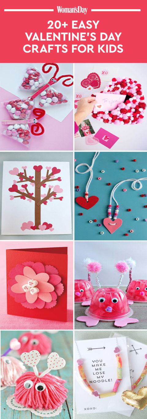 22 valentine 39 s day crafts for kids fun heart arts and for Valentine day crafts for kids