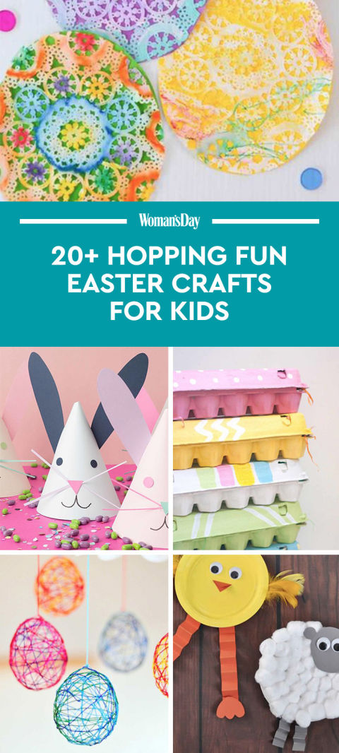 21 fun easter crafts for kids easter art projects for for Craft ideas for women