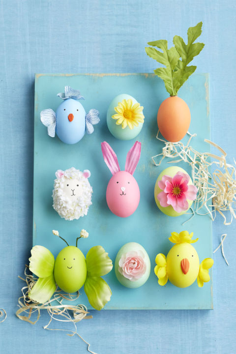 42 cool easter egg decorating ideas creative designs for easter eggs easter characters ccuart Gallery