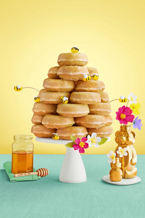 "Your kids will be all abuzz once they see this ""honeycomb"" tower on the dessert table.Get the recipe."