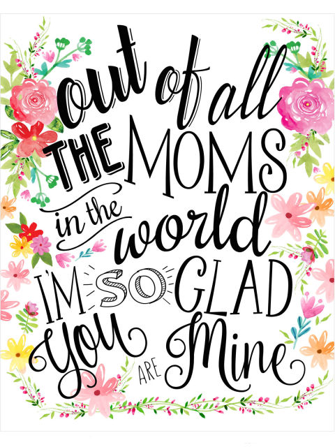15 Free Printable Mothers Day Cards Ecards to Print for Mothers Day – Free Printable Mother Birthday Cards