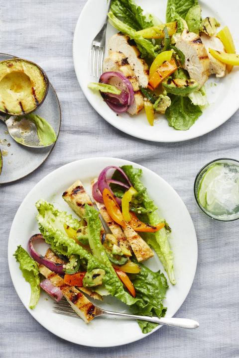 Chicken Fajita Salad With Lime Cilantro Vinaigrette