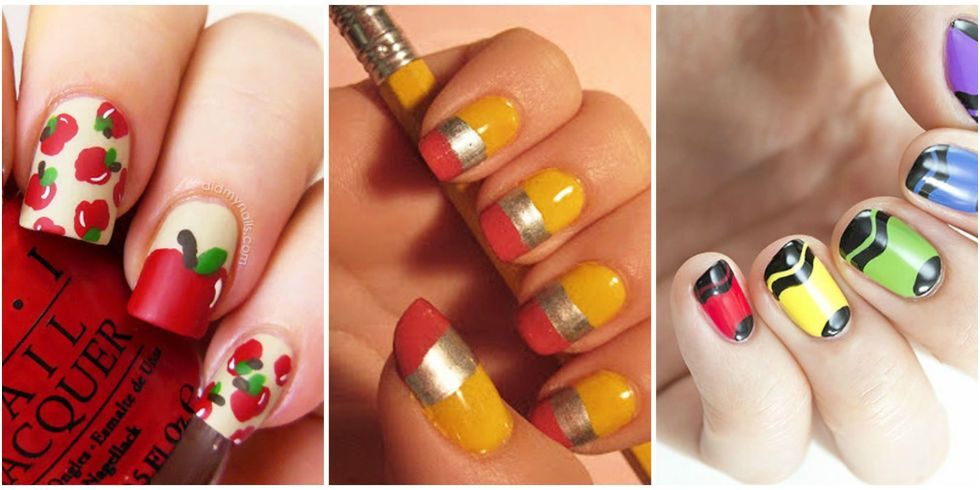 10 cute back to school nails best nail art design ideas for school back to school nails prinsesfo Gallery