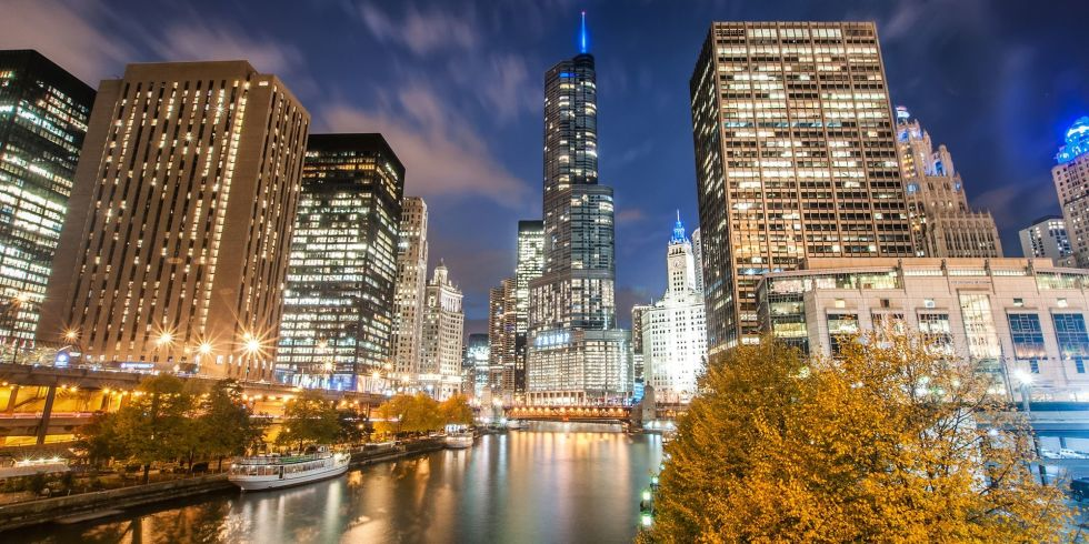 Flights to Chicago have a median price of $210.