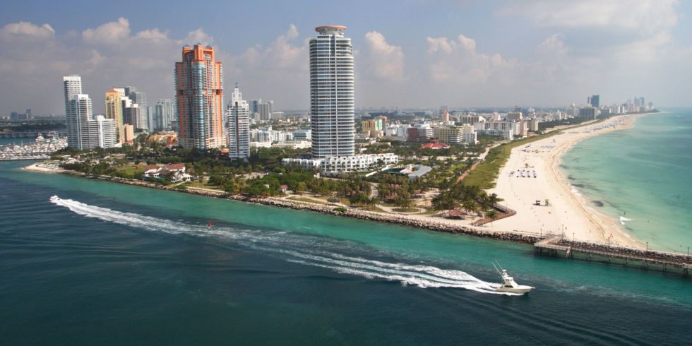 Flights to Miami have a median price of $256.