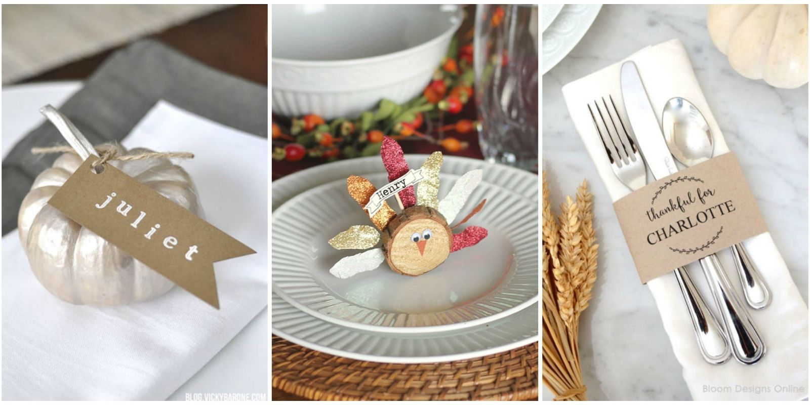 10 diy thanksgiving place cards craft ideas for fall for Diy thanksgiving table place cards