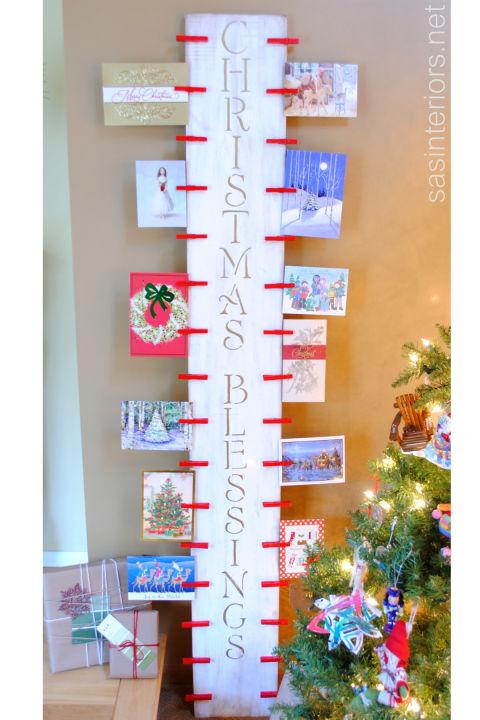 14 DIY Christmas Card Holder Ideas - How to Display Christmas Cards