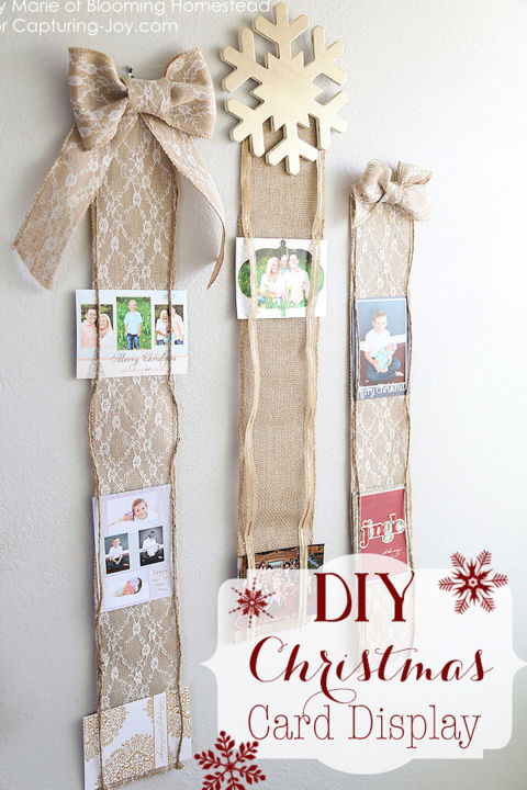 14 diy christmas card holder ideas how to display for Christmas card holder craft project