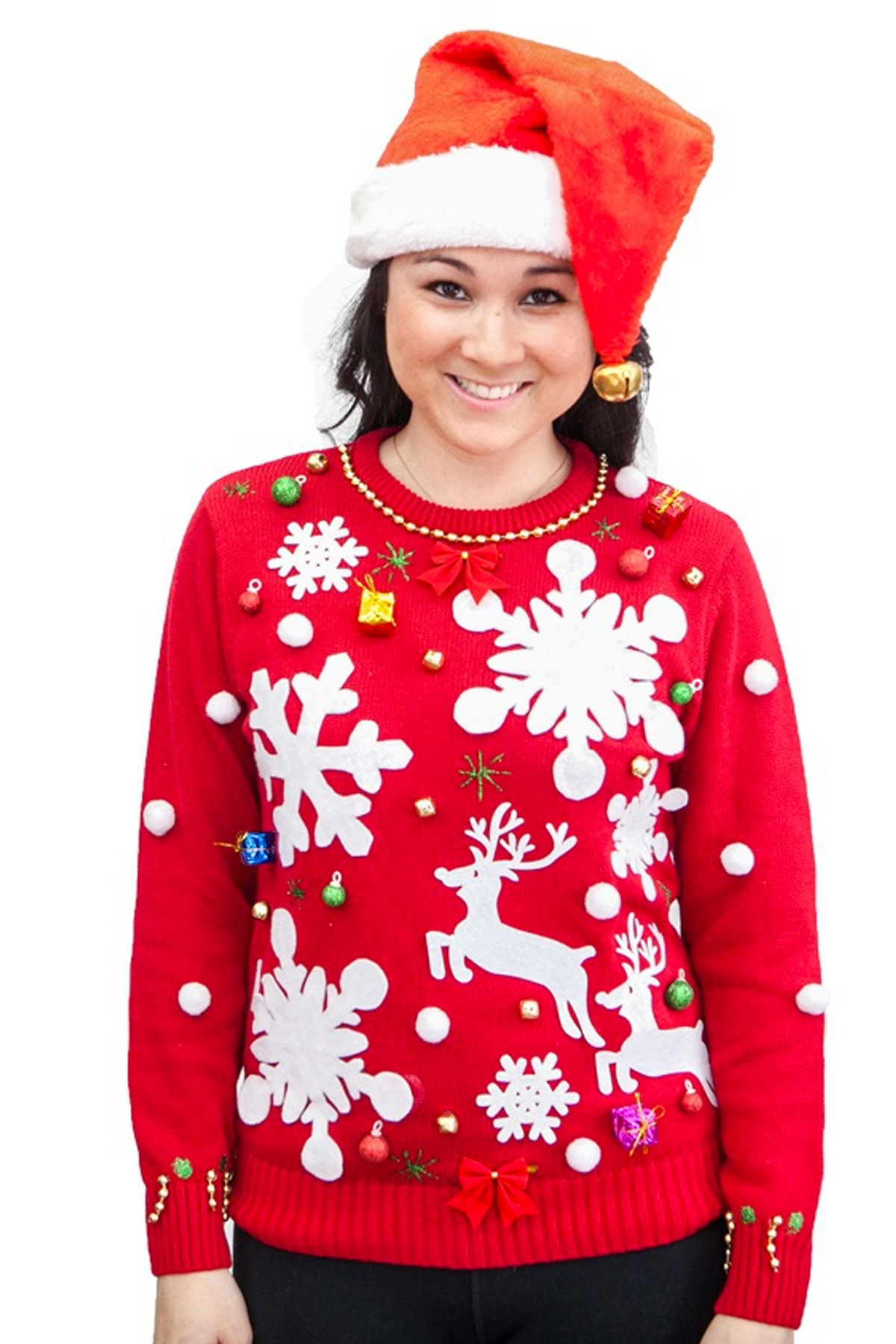 How to decorate an ugly christmas sweater