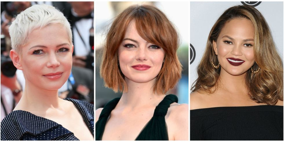 12 best hairstyles for round faces easy haircut ideas for round 12 photos urmus Choice Image