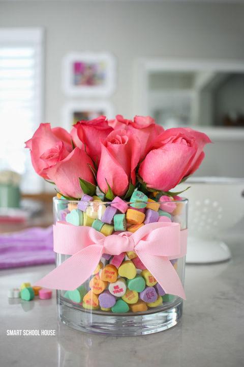 diy valentines day centerpiece - Valentines Day Centerpieces