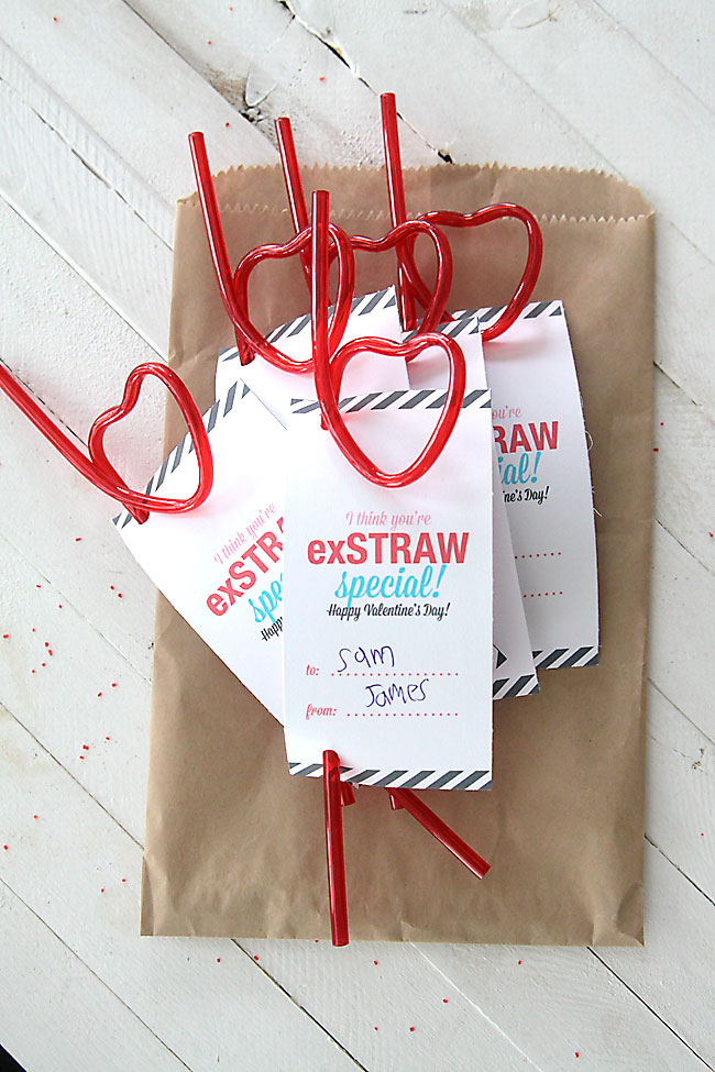 "you're exstraw special"" easy printable valentine's day card, Ideas"