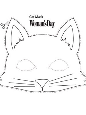 Halloween crafts printable cat face mask at for Caterpillar mask template