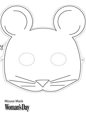 Halloween crafts printable mouse face mask at for Printable mouse mask template