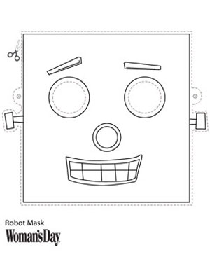 Halloween Crafts Printable Robot Face Mask At WomansDaycom