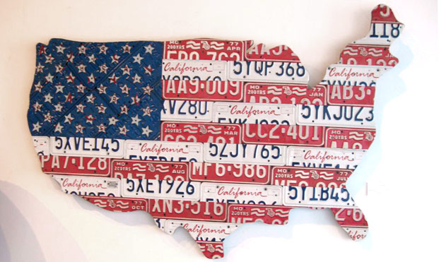 Strange Maps At WomansDaycom Unique Us Maps And Artwork - Map license plate us