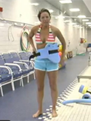 Water Aerobics Exercise Jogging Burn More Calories With This Challenging Workout Move