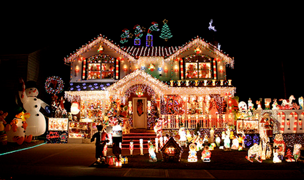 Christmas Houses Decorated Fair Crazy Outdoor Christmas Lights At Womansday  Photos Of . Decorating Design